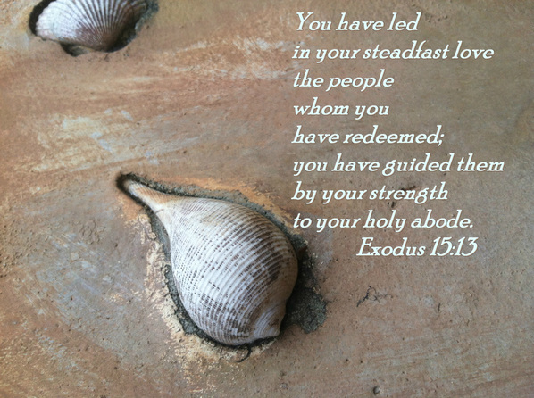 You have led in your steadfast love the people whom you have redeemed;     you have guided them by your strength to your holy abode. Exodus 15:13