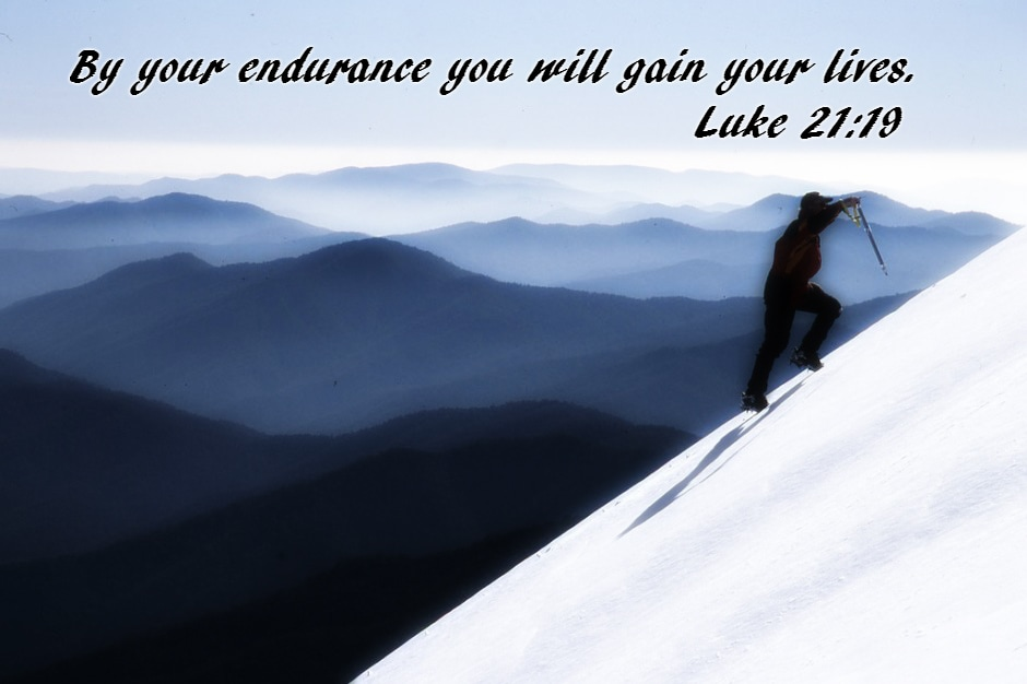 "By your endurance you will gain your lives."" Luke 21:19"
