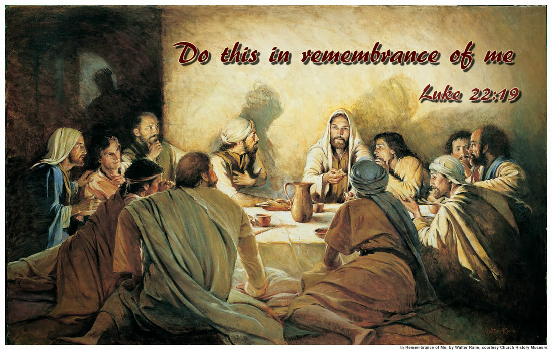 Do this in remembrance of me Luke 22:19 on painting of Jesus at the Passover