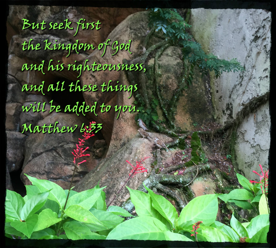 But seek first the kingdom of God and his righteousness, and all these things will be added to you. Matthew 6:33